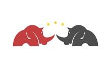 Two Rhino Unique Logo