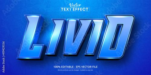 Fotografija Livid text, cartoon style editable text effect