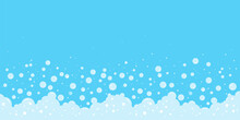 Soap Foam Bubbles Vector Background, Cartoon Suds Pattern. Abstract Illustration