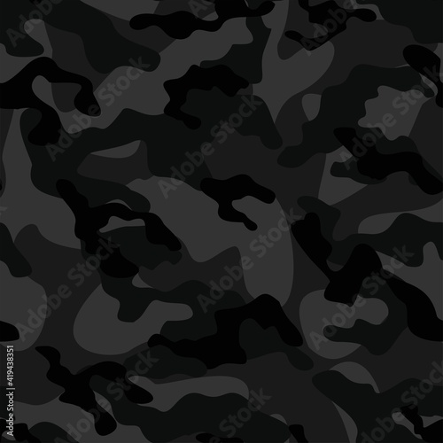 Fotomural dark army camouflage vector seamless print