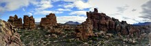 Panorama Of Canyon With Tall Rocks In The Cederberg