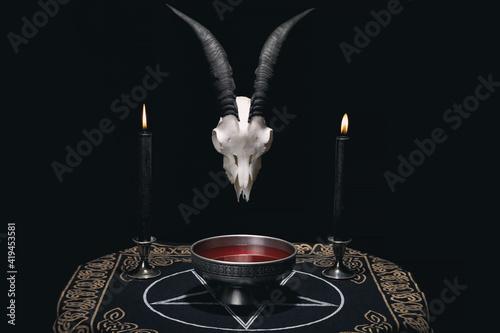 Fotografía Altar for satanic rituals