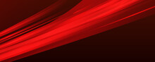 Abstract Red Light Background. Illustration Of Abstract Red And Black Metallic With Light Ray And Glossy Line. Metal Frame Design For Background. Vector Design Modern Digital Technology Concept