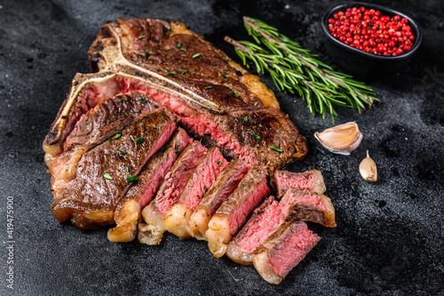 Grilled italian Florentine or  t bone beef meat Steak Fototapeta