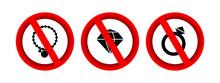 No Jewelry Forbidden Sign Vector Icon