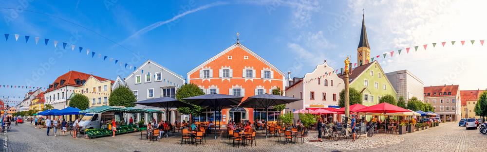 Fototapeta Marktplatz, Kelheim, Bayern, Deutschland
