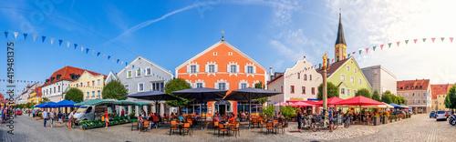 Canvastavla Marktplatz, Kelheim, Bayern, Deutschland