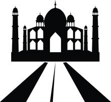 Taj Mahal Silhouette Vector
