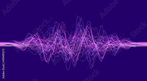 Billede på lærred Vector sound wave