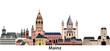 Mainz vector city skyline