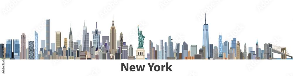 Fototapeta New York vector city skyline
