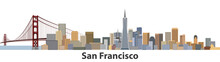 San Francisco Vector City Skyline