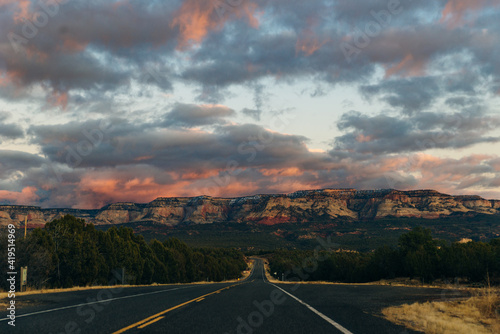 Fototapety, obrazy: road in Zion National Park on sunset, usa