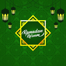 Banner Template And Background Design With A Ramadan Theme