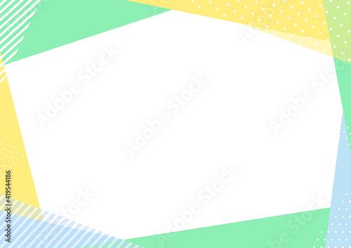 Fototapeta 爽やかな配色の幾何学フレーム obraz
