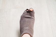Old Holey Sock On The Leg