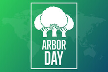 Arbor Day. Holiday Concept. Template For Background, Banner, Card, Poster With Text Inscription. Vector EPS10 Illustration.