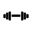 canvas print picture - dumbbell icon