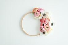 Flat Lay Stil Life Peonies Flowers
