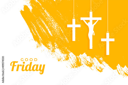 Foto holy good friday event background with hanging crosses