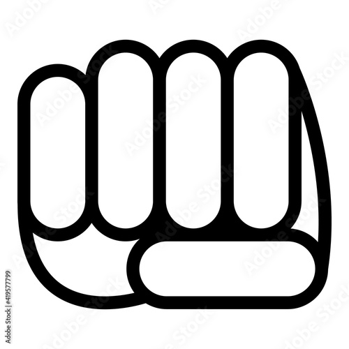 Fototapeta Hand gesture fight icon