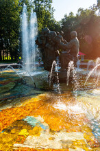 Veliky Novgorod, Russia. Fountain Of Sadko And Princess Volkhova, The Characters Of Novgorod Legends