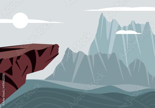 Photo landscape stone cliffs
