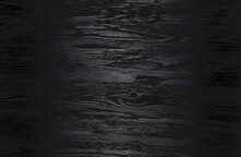 Luxury Black Metal Gradient Background With Distressed Wooden Parquet Texture.