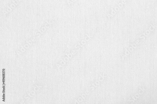 Obraz White cotton fabric texture background, seamless pattern of natural textile. - fototapety do salonu