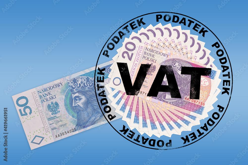 Fototapeta Podatek VAT.