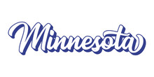 Hand Sketched MINNESOTA Text. 3D Vintage, Retro Lettering For Poster, Sticker, Flyer, Header, Card, Clothing, Wear
