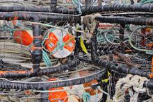 Crab Traps On The Pacific Coast, Humboldt County, Eureka, California