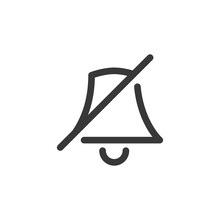 Turned Off Notification Icon. Bell Symbol Modern, Simple, Vector, Icon For Website Design, Mobile App, Ui. Vector Illustration