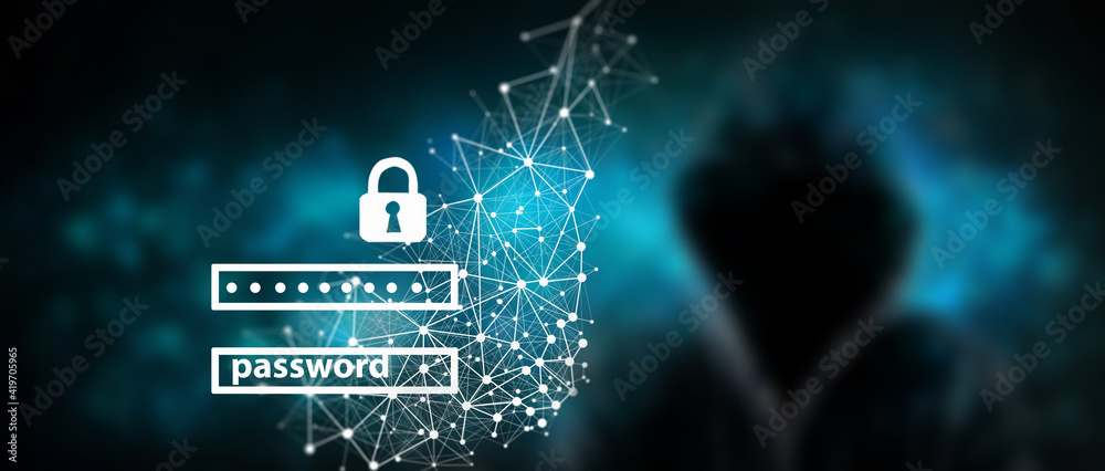 Fototapeta Data protection and cyber security concept