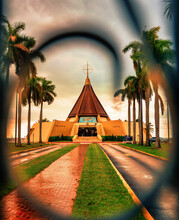 Hermitage Church Street Trees Palms Virgin Charity Patron Saint Cuba Cuban Copper Miami Homeland Life Religion Catholic
