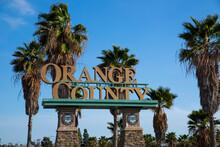 Orange County California Public Welcome SIgn