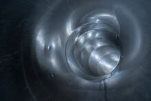 Inside Of A Stainless Steel Tube