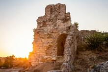 Roman Theater Of Nicopolis During Sunset At Nicopolis, Preveza, Greece