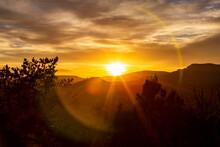 USA, Arizona, Sedona, Sunset Over Red Rocks