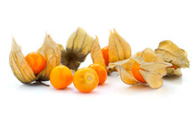 Physalis Fruit ( Physalis Peruviana) Isolated On A White Background