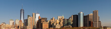 Ultra Wide Panorama Image Of Daytime View Of Lower Manhattan, New York City.