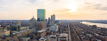 Panorama Of Boston Skyline