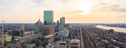 Fotografija Panorama of Boston Skyline