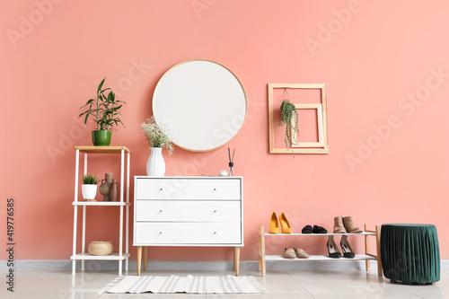 Obraz Stylish interior of modern hallway - fototapety do salonu