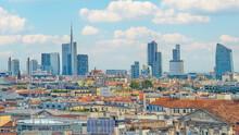 Modern Buildings In Milan, Italy
