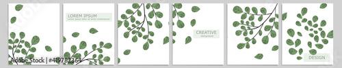 Fotografie, Tablou Set of vector cover notebook design