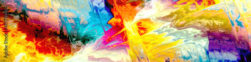 Obraz abstract colors painting digital - fototapety do salonu