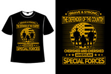 T-shirt Special Forces American Flag Vintage
