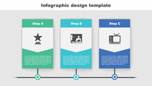 Set Movie Trophy, Online Play Video And Retro Tv. Business Infographic Template. Vector.