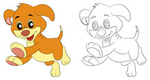 Coloring Page For Kids Coloring Drawing Book Abc Cute  Animal Dog Letter D Pet, Fun, Kindergarten, Reading, Nature, Activity, Outline, Child,